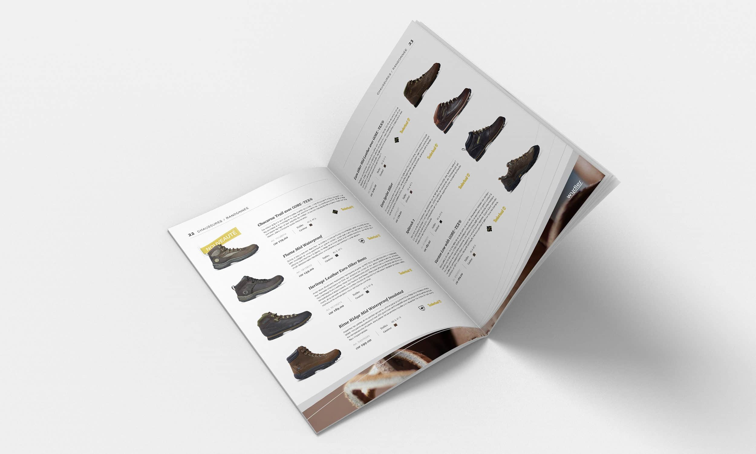 Page chaussures du catalogue Wydler